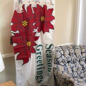 "Christmas Poinsettia flag/banner 34.5""w x 58.5""t"